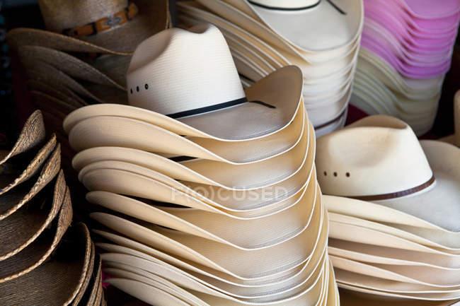 Вид ковбойские шляпы — стоковое фото