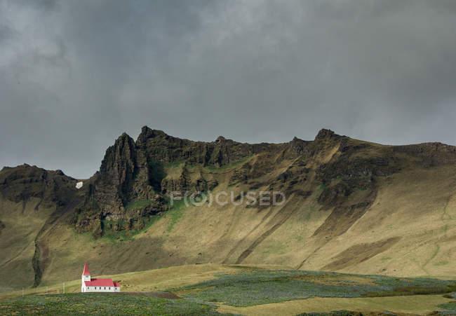 Вид церкви в Исландии — стоковое фото