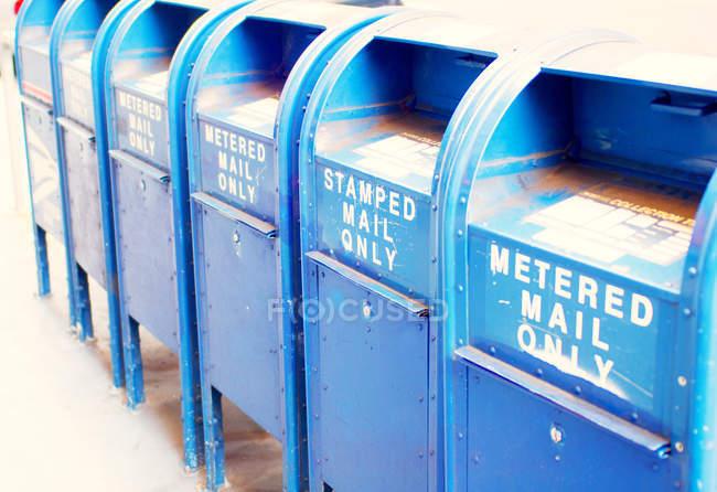 Просмотр почтовых ящиков — стоковое фото