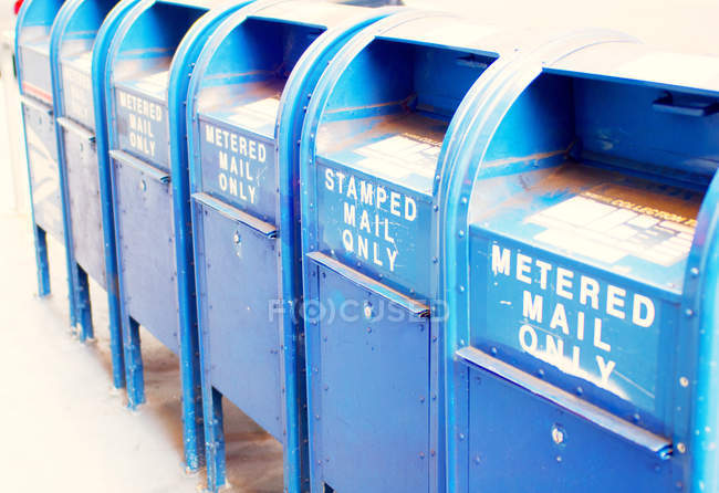 View of Mail boxes — Stock Photo
