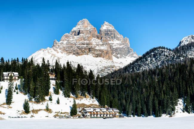 Ansicht der italienischen Dolomiten — Stockfoto