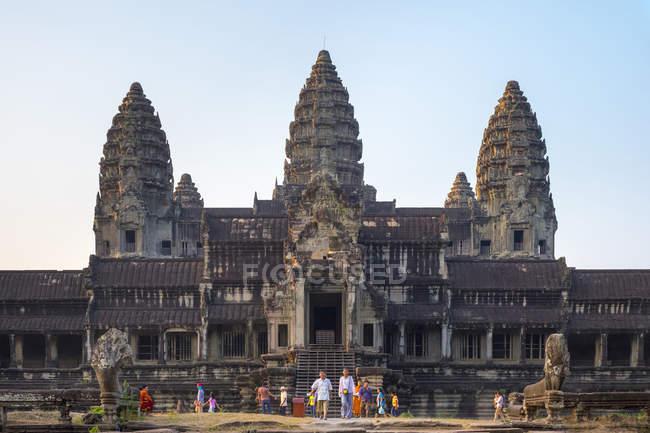 Angkor Wat at sunset, Cambodia — Stock Photo