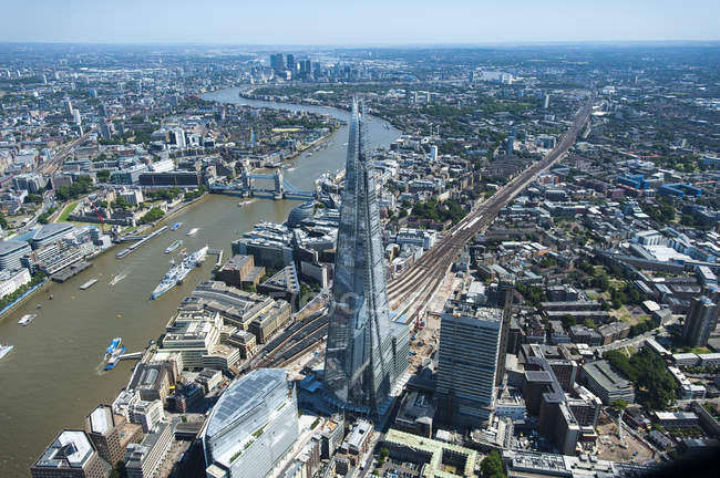 Vista aerea del Shard — Foto stock