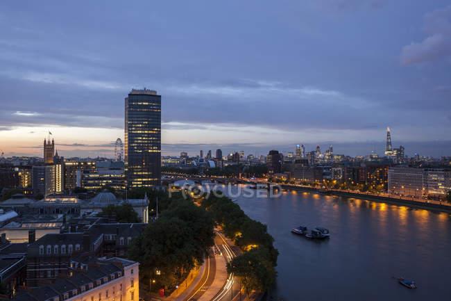 Fiume Tamigi, Londin — Foto stock