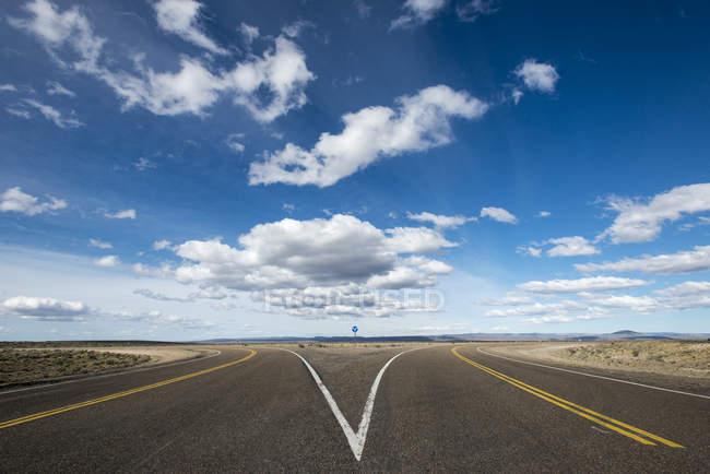 Divisé en route le long de la Route 40 en Patagonie — Photo de stock