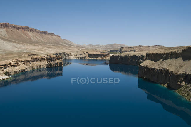 Spectacular deep blue lakes of Band-e Amir — Stock Photo