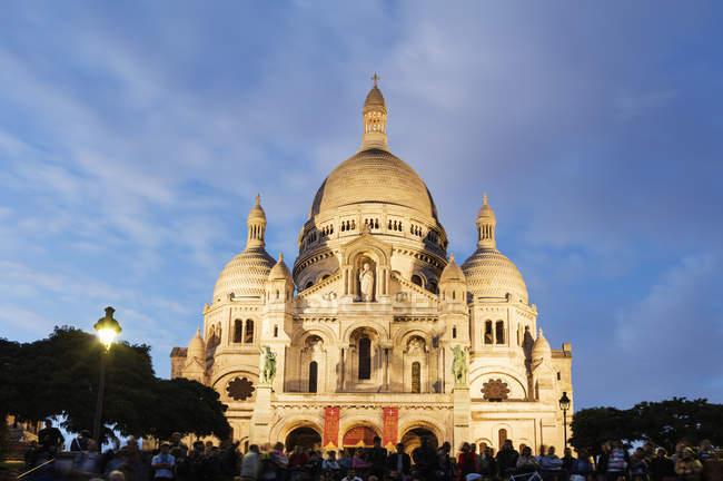 Перегляд базиліки Сакре Кер — стокове фото