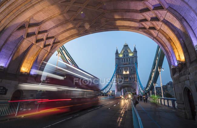 Lights on Tower Bridge — Stock Photo