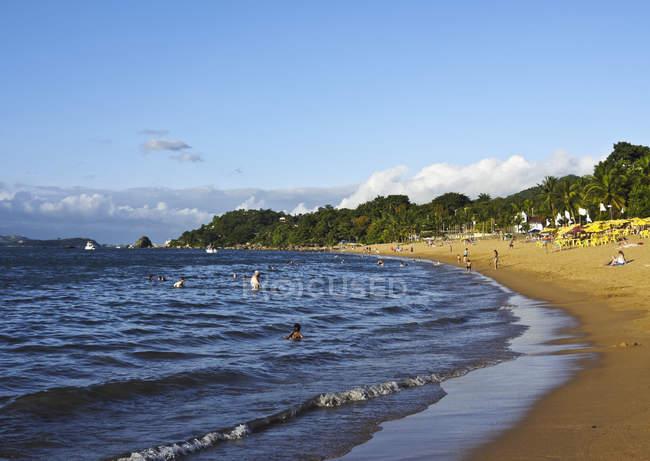 Vista da praia em Praia Grande — Fotografia de Stock