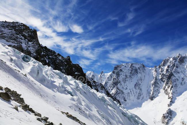 Vista do glaciar Argentiere — Fotografia de Stock