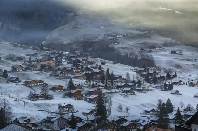 Blick auf Grindelwald Jungfrauregion — Stockfoto