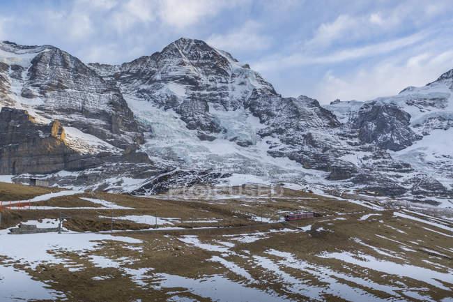 Blick auf die Kleine Scheidegg, Jungfrauregion — Stockfoto