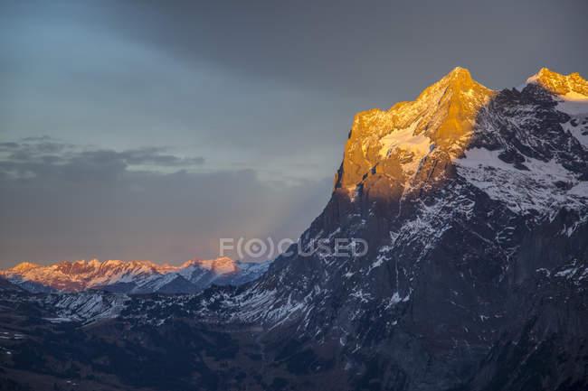 Wetterhorn from Kleine Scheidegg — Stockfoto
