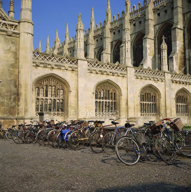 Kings College und Fahrräder — Stockfoto