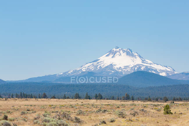 Central Oregon High Desert with Mount Jefferson — Stock Photo