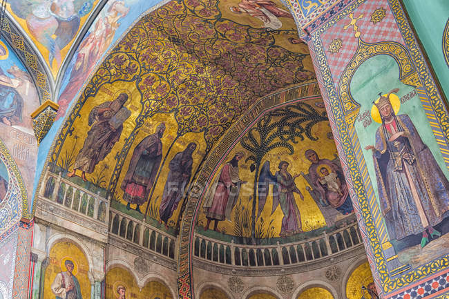 Sioni Cathedral, interior frescoes — Stock Photo