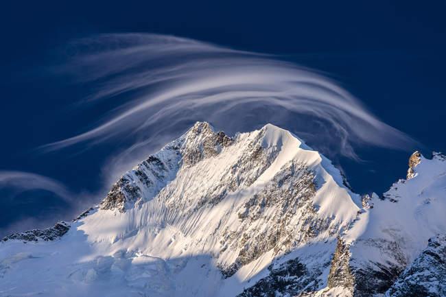 Piz Bernina and Biancograt, Engadine — Stock Photo