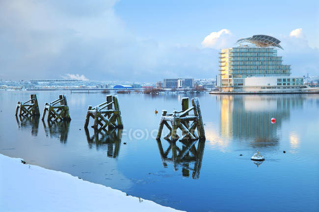 Do St. David ' Hotel e Spa na neve — Fotografia de Stock