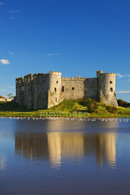 Carew Castle, Pembrokeshire — Stock Photo