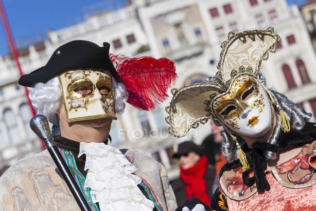 Карнавал у Венеції, відомий фестиваль по всьому світу — стокове фото