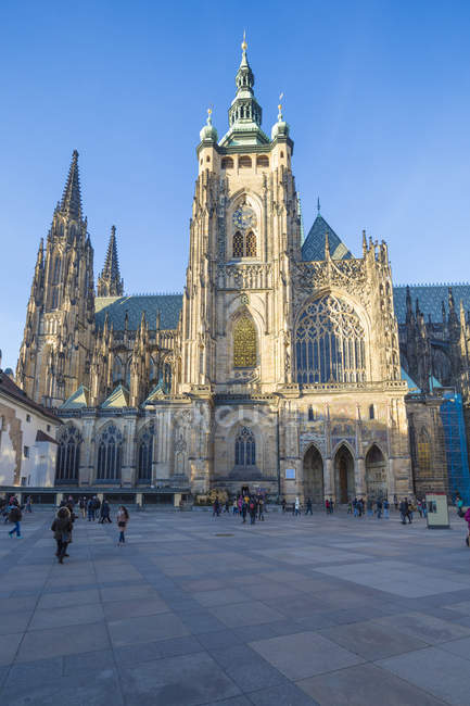 Gothic Cathedral of St. Vitus — Stock Photo