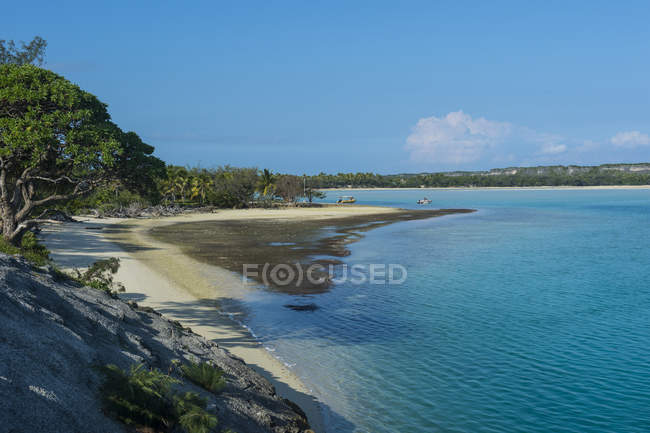 Лагуна Ouvea, лояльності острови — стокове фото
