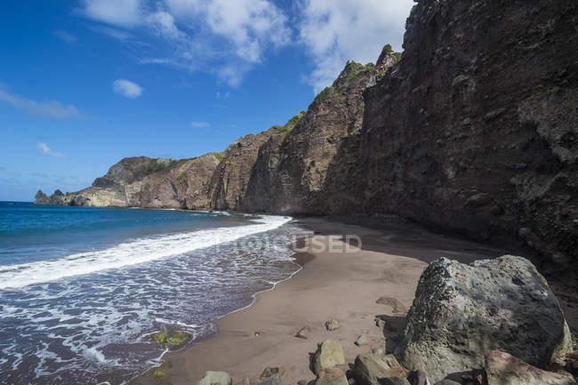 Plage de sable à Saba — Photo de stock
