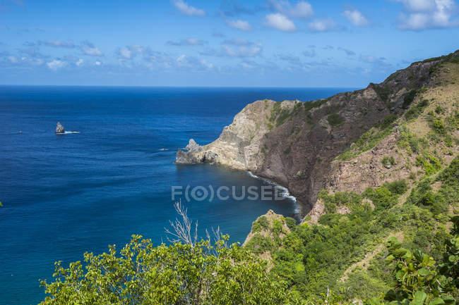 Littoral de Saba, Antilles néerlandaises — Photo de stock