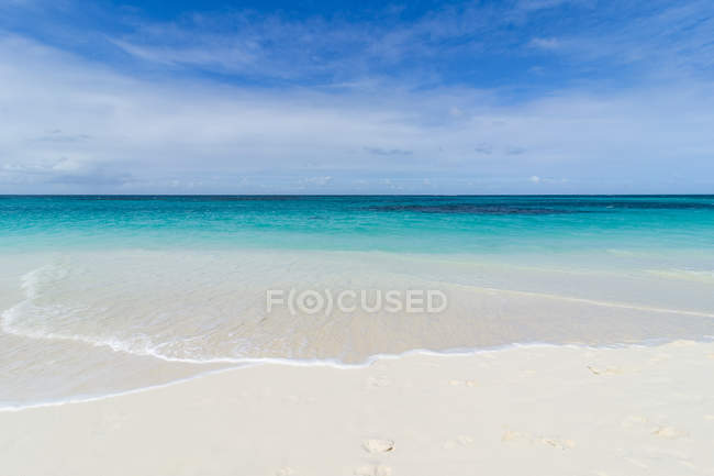 Пляж Сходу Shoal Bay — стокове фото