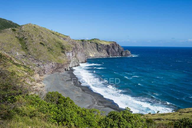 Coastline of Montserrat, British Overseas Territory — Stock Photo