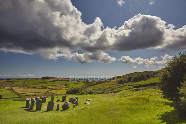 Drombeg каменный круг, Ирландия — стоковое фото