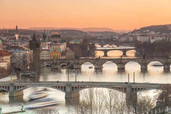 Vltava River, Prague — Stock Photo
