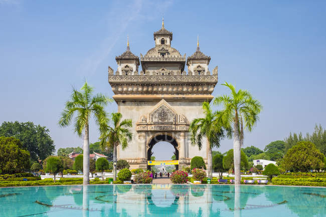 Patuxi, Victory Gate monument — Stock Photo