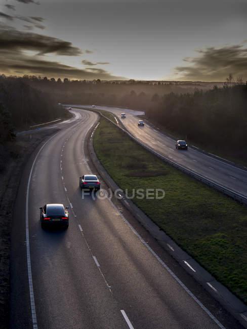 Legale di autostrada A31, Surrey, Inghilterra — Foto stock