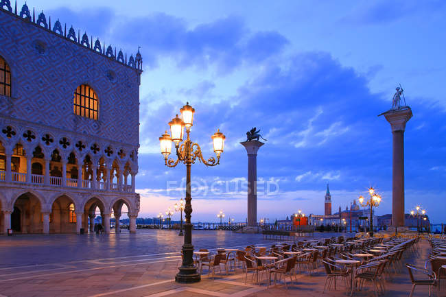 Doge's Palace and Piazzetta — Stock Photo