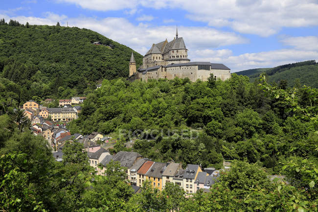 Town of Vianden on Our River — Stock Photo