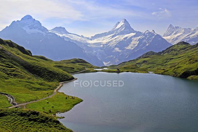 See-Bachalpsee auf den ersten und Berner Alpen — Stockfoto