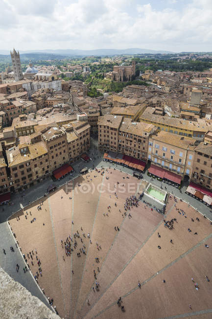 Piazza del campo, en Sienne — Photo de stock