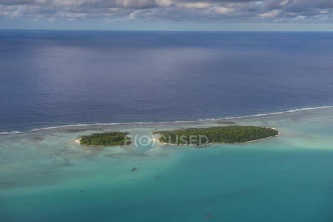 Aitutaki lagoon, Rarotonga et des îles Cook — Photo de stock