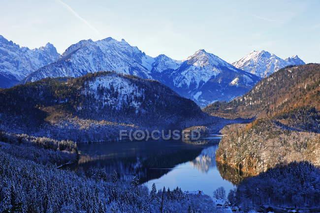 Lac Alpsee près de Hohenschwangau, Allemagne — Photo de stock