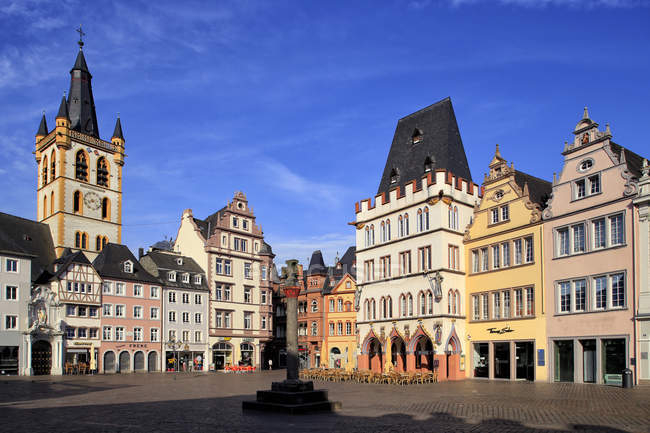 Hauptmarkt, Main Market Square, Trier — Photo de stock