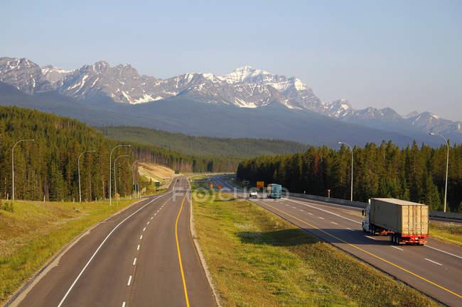 Transcanada шосе, Скелясті гори — стокове фото