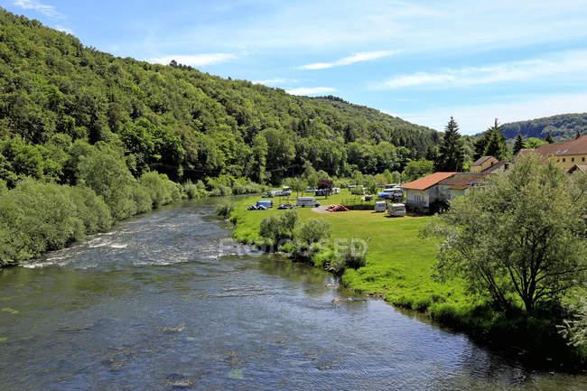 Unser Fluss in der Nähe von Dillingen — Stockfoto