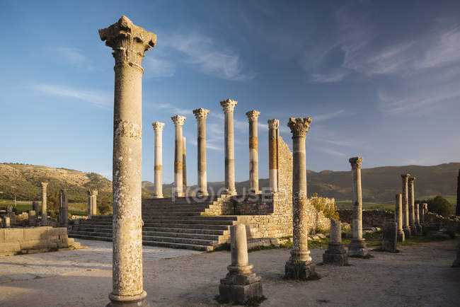 Roman ruins of Volubilis — Stock Photo