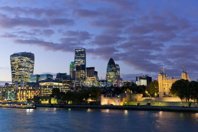 Distrito financiero de ciudad de Londres - foto de stock