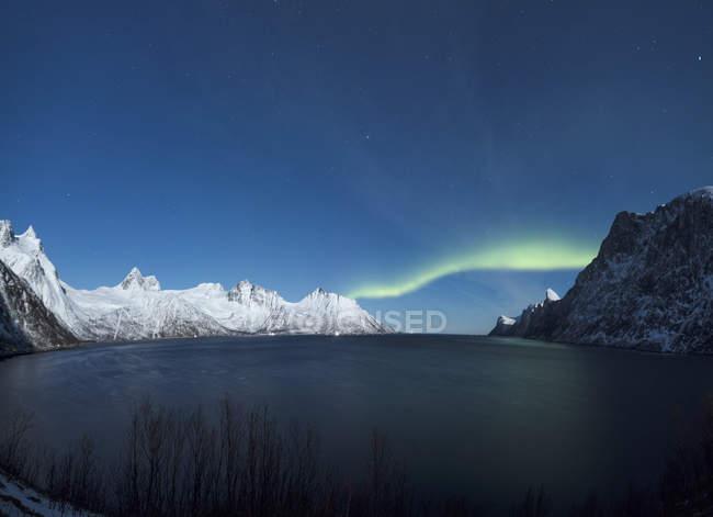 Panorama dell'Aurora boreale — Foto stock