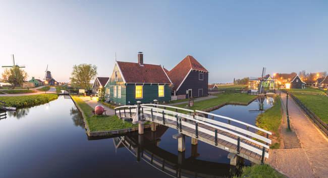 Typisches Dorf der Zaanse Schans — Stockfoto