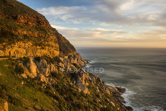 Cliffs of Cape of Good Hope at sunset — Stockfoto