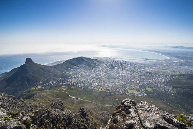Kapstadt vom Tafelberg — Stockfoto