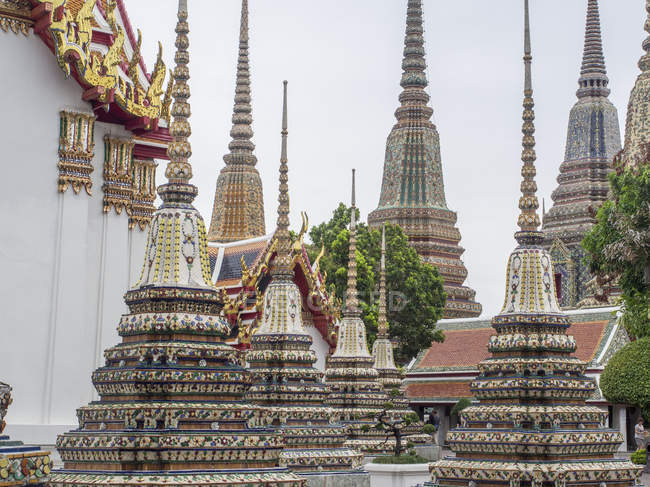 Chedis, Wat Pho, Bangkok — Stock Photo